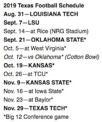 Texas Longhorns vs. Rice Owls at NRG Stadium