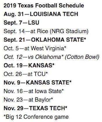 PARKING: Texas Longhorns vs. Rice Owls at NRG Stadium
