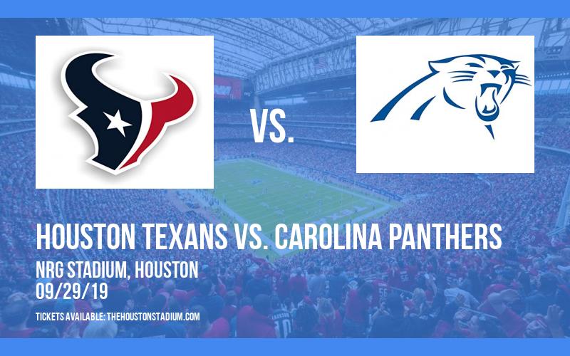 PARKING: Houston Texans vs. Carolina Panthers at NRG Stadium