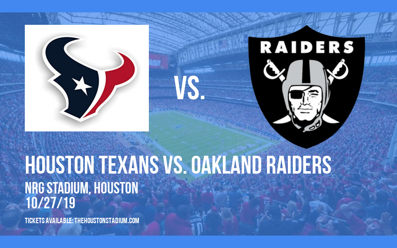 PARKING: Houston Texans Vs. Oakland Raiders at NRG Stadium