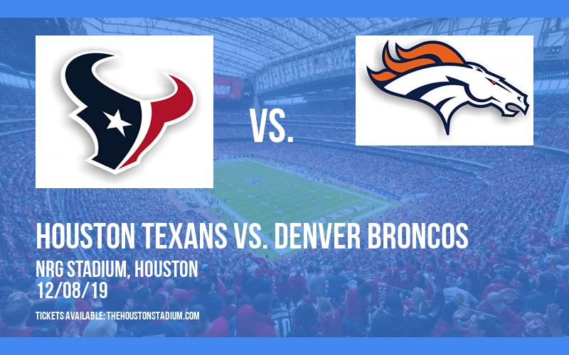 PARKING: Houston Texans vs. Denver Broncos at NRG Stadium
