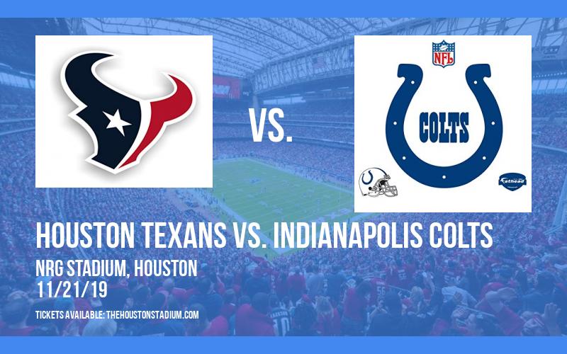 PARKING: Houston Texans vs. Indianapolis Colts at NRG Stadium